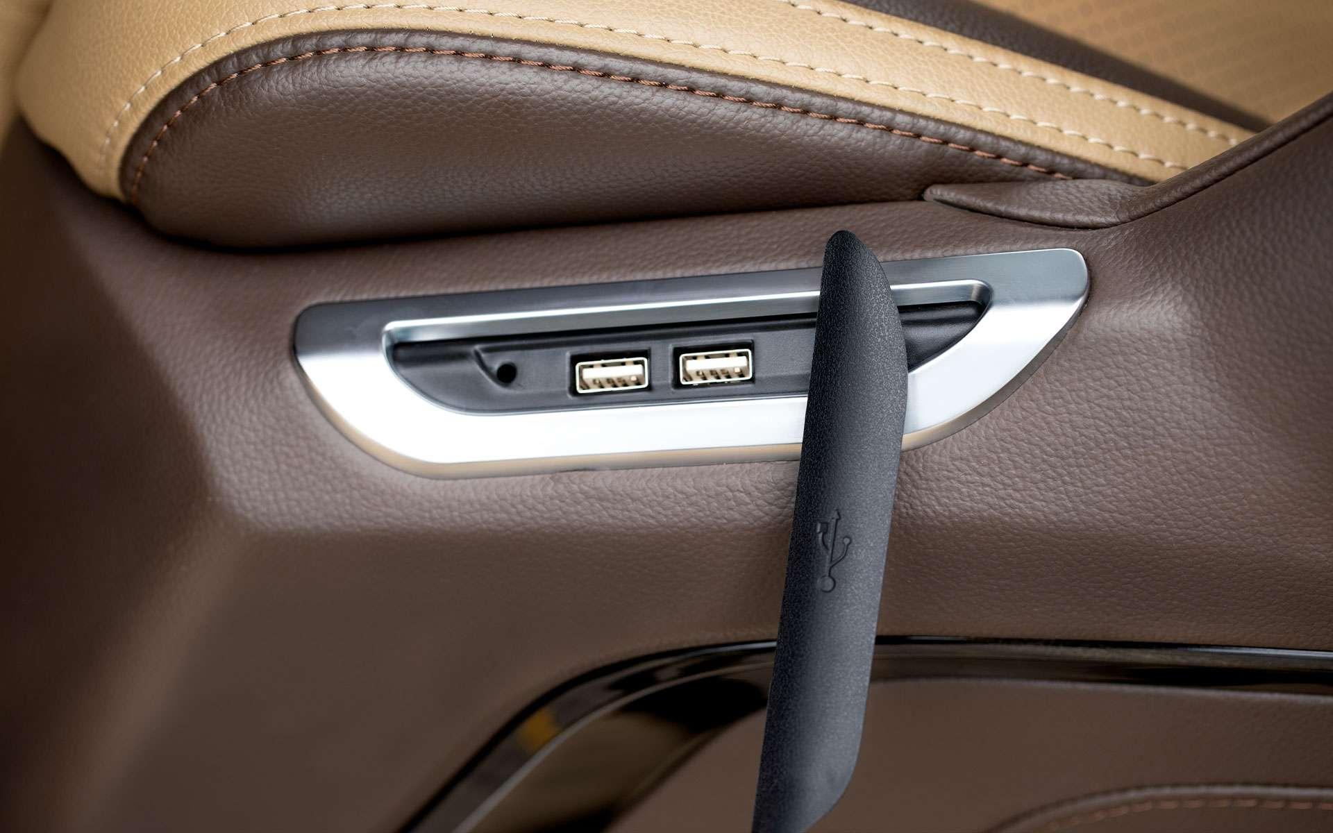 Trang bị cổng sạc USB